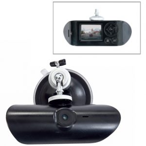 DVR portatil Full HD 1080p para vehiculo con camara frontal