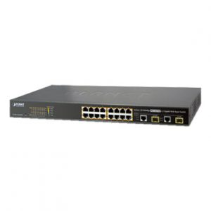 Switch administrable L2 de 16 puertos PoE+