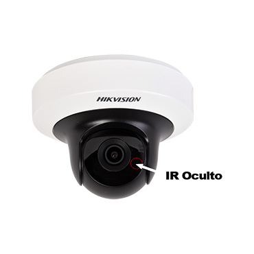 Tecnologia 5MP mini domo IP PT con IR inteligente oculto