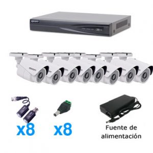 Kit 8 camaras de seguridad HD turbo 2mp Monterrey